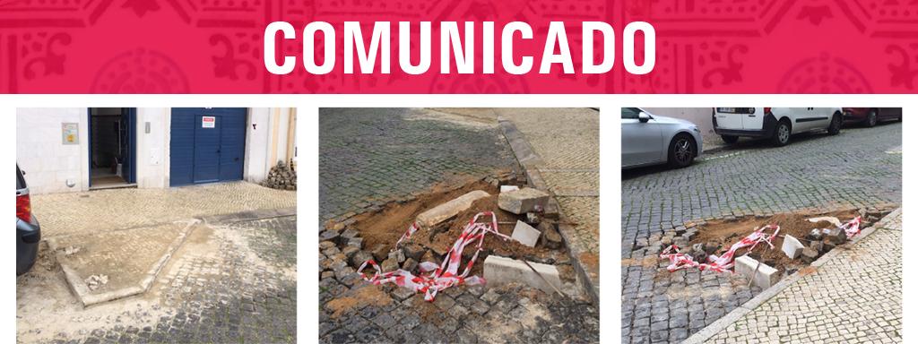 Atos de vandalismo de destruição do espaço público